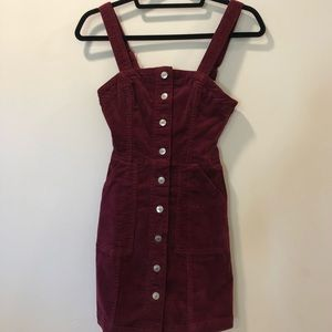 Maroon corduroy dress